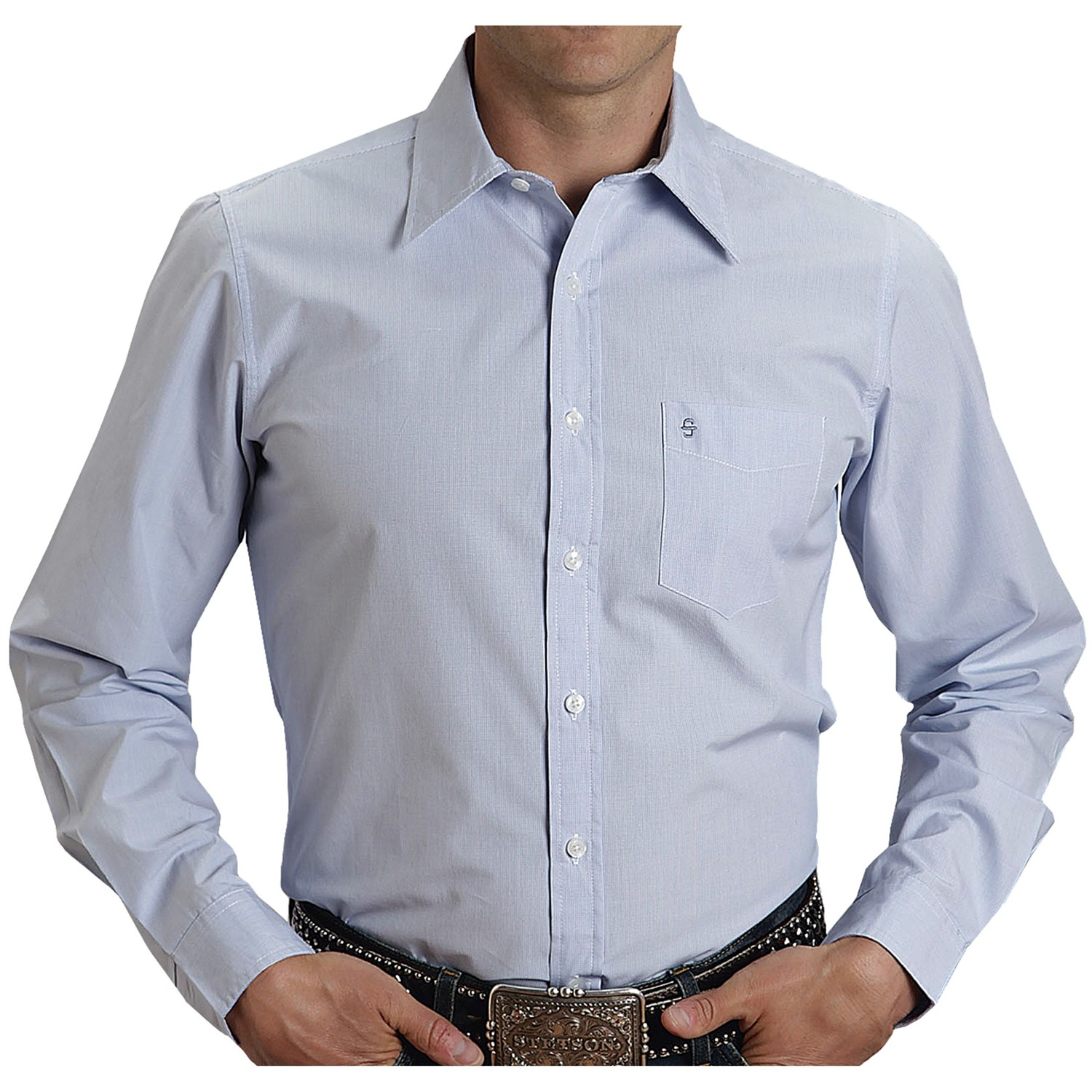 Men's Blue Button-Up Shirt